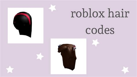 Heyy guys here are 50+ black roblox hair codes you can use on games such on bloxburg + how to use them! hair codes for roblox - YouTube