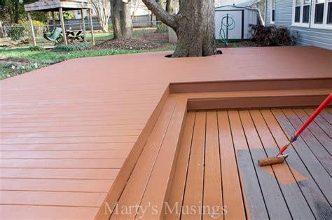 wood deck restoration  behr deckover