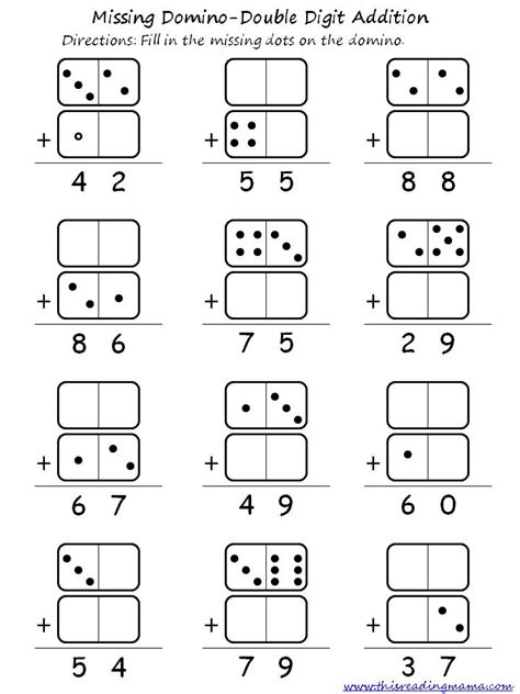 Double Digit Domino Addition And Subtraction  This Reading Mama
