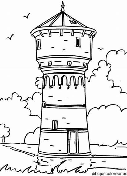 Dibujos Tower Coloring Castle Colorear Faro Monumentos