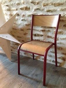 Chaise D école : chaise d 39 cole style mullca brocante avenue ~ Teatrodelosmanantiales.com Idées de Décoration