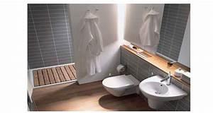 conseils deco pour optimiser une petite salle de bain With conseil carrelage petite salle de bain
