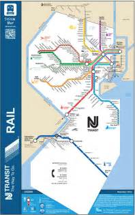 official map new jersey transit rail system this
