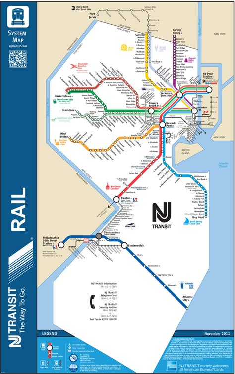Micros Help Desk Nj by Official Map New Jersey Transit Rail System This