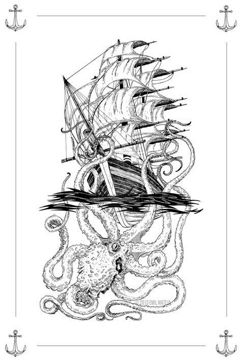 The Kraken Attacks by em613 | Tattoos | Badass tattoos