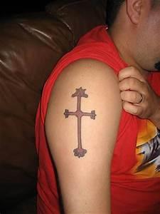 Cross Tattoo On Shoulder