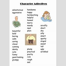 Using Adjectives To Create A Character By Mseren93  Teaching Resources Tes