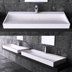 Höhe Abfluss Waschbecken : design gussmarmor waschbecken waschtisch waschplatz colossum 19 100 x 46 cm wow ebay ~ Orissabook.com Haus und Dekorationen