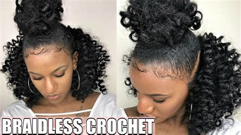 braidless crochet top knot