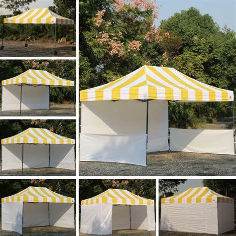 carnival canopy stripe ez part tent vender instant canopy bouns  walls abccanopy