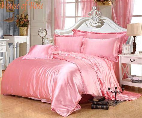 silk comforter sets cheap luxury light pink silk bedding sets 2220