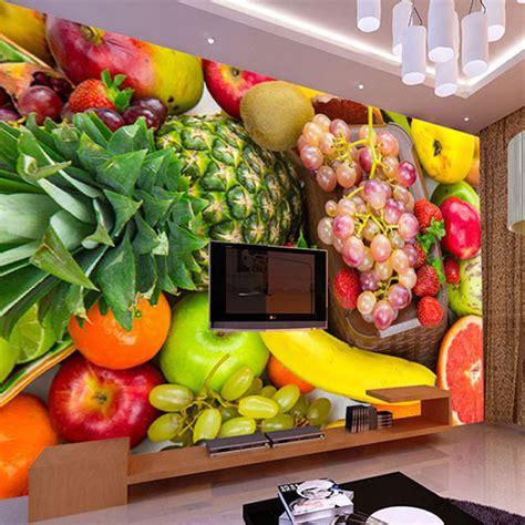 decor mural cuisine aliexpress com buy 3d wall mural custom photo wallpaper kitchen fruit shop restaurant