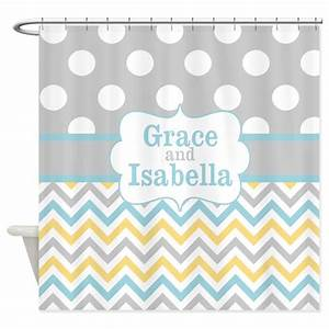 gray yellow chevron dots personalized shower curta by With kitchen colors with white cabinets with personalised baby shower stickers