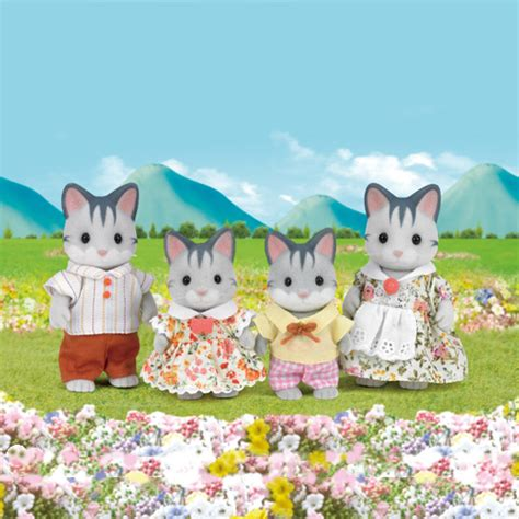 Sylvanian Families Cat Family by Sylvanian Families Grey Cat Family Madness