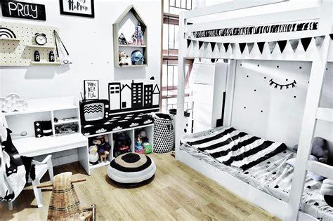 model desain kamar tidur hitam putih terbaru