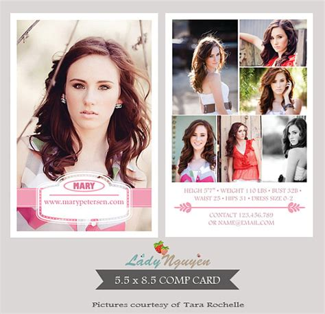 Free Model Comp Card Template Psd by Instant Modeling Comp Card Photoshop Templates