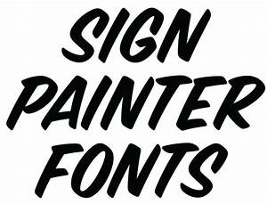 sign painter fonts from house design lettres pinterest With house lettering script