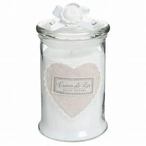 Cloche En Verre Maison Du Monde : bougie bonbonni re en verre blanche h 15 cm c ur maisons ~ Melissatoandfro.com Idées de Décoration