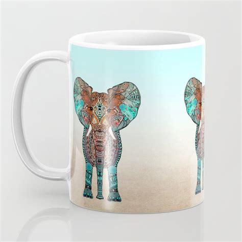 _ available in 11 oz. BOHO SUMMER ELEPHANT Coffee Mug by monikastrigel | Society6