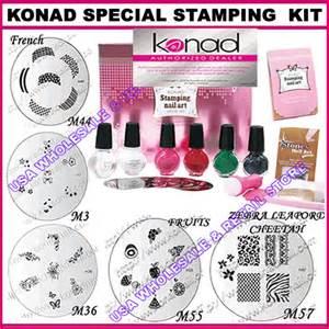 Konad stamping nail design art special kit henna