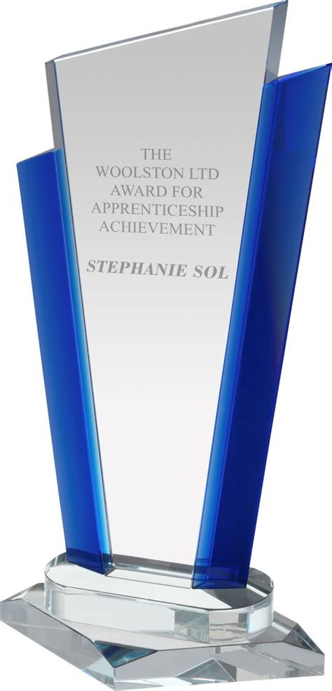 Signature Crystal Award with Blue Trim - 29cm - Trophies ...