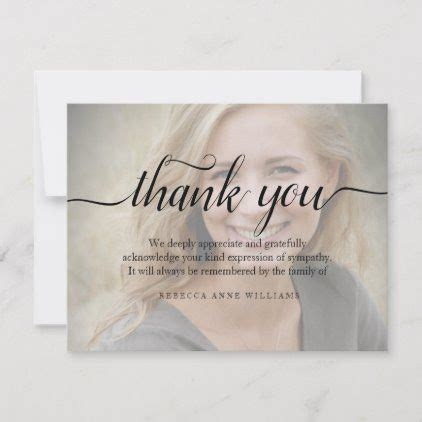 funeral   note card bereavement zazzle