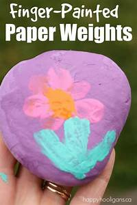 Finger-Painted Paper Weights for Kids to Make - Happy ...