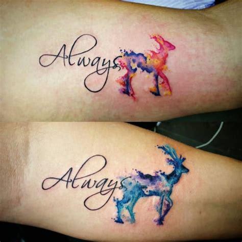 tatouage harry potter biche
