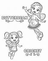 Coloring Pages Cafe Printable Butterbeans Butterbean sketch template