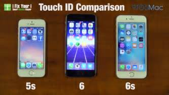 iphone 6 and iphone 6s touch id on iphone 5s iphone 6 and iphone 6s compared in