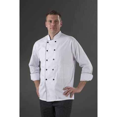 femme chef de cuisine veste cuisinier boutonnage manches longue fond