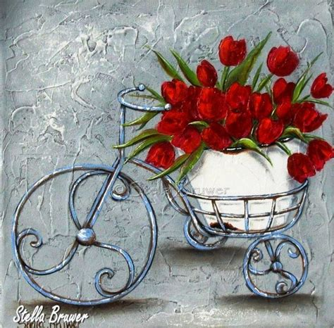 bicicletta canvas ideas pinterest peinture peinture