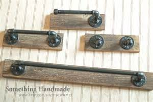 Bathroom Towel Bars And Toilet Paper Holders by Barn Wood Bathroom Set Towel Bars Toilet Paper Holders And