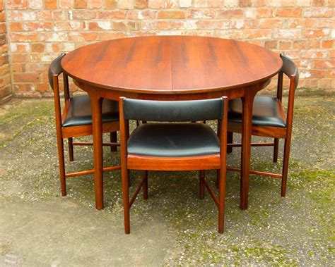 Rosewood Retro Dining Table 4 Chairs By Mcintosh Vintage