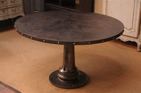 Dining Table Industrial Round Dining Table