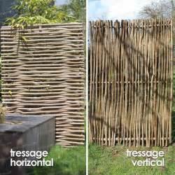Occultant Jardin Bois by Panneau Noisetier Tressage Horizontal Ou Vertical