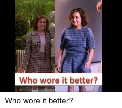 Who Wore It Better Meme - who wore it better funny meme on sizzle
