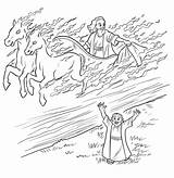 Elijah Chariot Fire Bible Printable Coloring Pages Chariots Sunday Story Crafts Elisha Heaven Widow Goes Sketch Drawing Horse Craft Taken sketch template