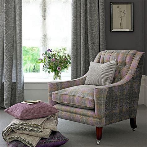 heather  grey paisley living room decorating