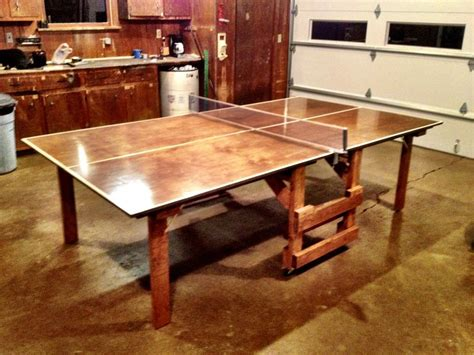 homemade ping pong table dunlop 2piece table tennis table ping pong table