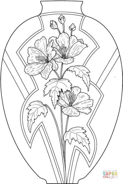 flower vase coloring vase with flowers coloring page free printable coloring