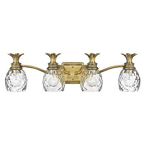 Antique Brass Light Fixtures Bathroom by Anana Plantation 28 1 2 Quot W Antique Brass 4 Light Bath Light