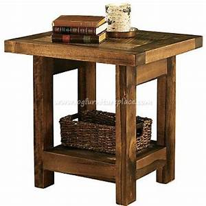 wyoming reclaimed barnwood end table With barn board end tables