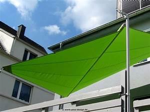 sonnensegel fur den balkon in premium qualitat pina designr With französischer balkon mit sonnenschirm dachterrasse wind
