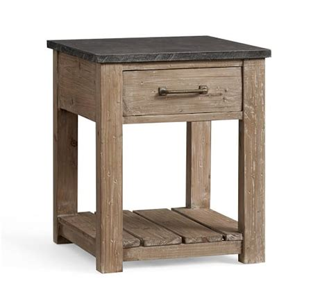pottery barn table ls reclaimed wood side table pottery barn