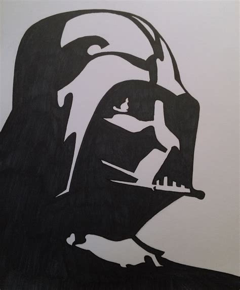 Simple Darth Vader Drawing Wwwimgkidcom The Image