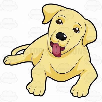 Labrador Retriever Cartoon Golden Puppy Yellow Clipart