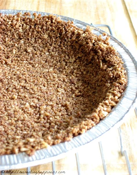 gluten free graham cracker crust recreating happiness formerly 100 days of gluten free recipes revisited revised gluten