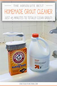 how to clean grout with a homemade grout cleaner With how to clean bathroom tiles with baking soda