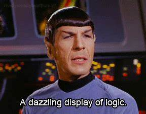 a dazzling display of logic - Spock - TOS | GIFs | New ...